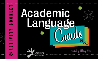 Academic Language Cards w/Booklet - ENGLISH