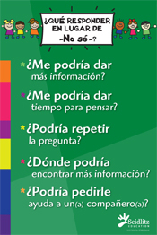 Poster: Instead of I Don't Know, Elementary/SPANISH